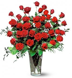 Three Dozen Red Rose Bouquet