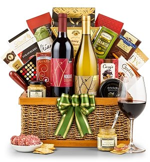 Holiday Retreat Wine Basket