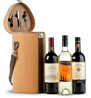 Wine Trio Travel Tote