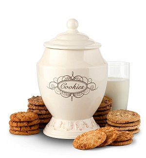 Old Fashioned Cookie Jar with Two Dozen Cookies