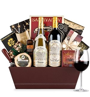 A Far Niente Christmas Gift Wine Basket