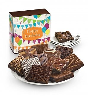 One Dozen Birthday Brownies