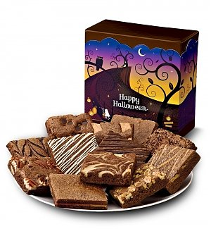 One Dozen Halloween Brownies