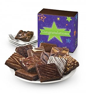One Dozen Congratulations Brownies