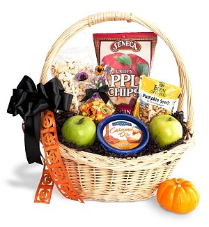 Happy Halloween Treats & Apples Basket