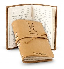 Image of Personalized Leather Bound Golf Log