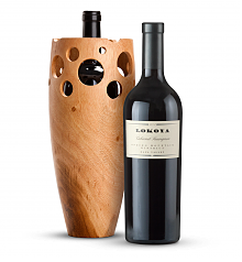 Wine Accessories & Decanters: Lokoya Spring Mountain Cabernet Sauvignon 2007 with Handmade Wooden Wine Vase