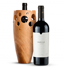 Wine Accessories & Decanters: Merryvale Profile 2011 with Handmade Wooden Wine Vase