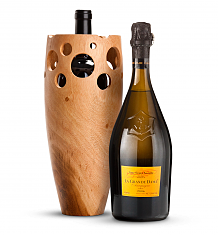 Wine Accessories & Decanters: Veuve Clicquot La Grande Dame Champagne 2006 with Handmade Wooden Wine Vase