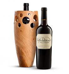 Wine Accessories & Decanters: Broadstone Sonoma County Knights Valley Cabernet Sauvignon in Handmade Wooden Vase