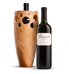 Wine Accessories & Decanters: Polmanter Yountville Napa Valley Cabernet Sauvignon with Pierced Vase