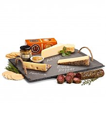 Image of Slate Serving Board with Artisan Cheeses
