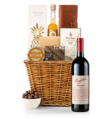 Premium Wine Baskets: Penfolds Grange 2010 Sand Hill Road Luxury Gift Basket