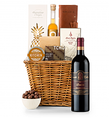Premium Wine Baskets: Leonetti Reserve Red 2010 Sand Hill Road Luxury Gift Basket