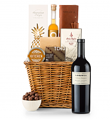 Premium Wine Baskets: Lokoya Mt. Veeder Cabernet Sauvignon 2009 Sand Hill Road Luxury Gift Basket
