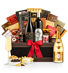 Premium Wine Baskets: Louis Roederer Cristal Brut 2009 Prestige Luxury Wine Basket