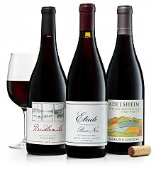 Image of Oregon & California Pinot Noirs: Adelsheim, Bridlemile & Etude