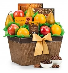 Image of Premium Grade Fruit and Godiva Chocolates