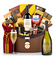 Premium Wine Baskets: Dom Perignon 2006 Windsor Luxury Gift Basket