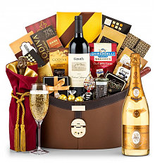 Premium Wine Baskets: Louis Roederer Cristal Brut 2007 Windsor Luxury Gift Basket