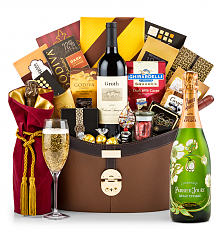 Premium Wine Baskets: Perrier Jouet Fleur Belle Epoque 2011 Windsor Luxury Gift Basket