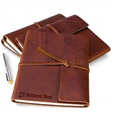 Image of Embossed Fine Leather Journal