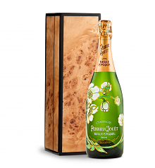 Wine Gift Boxes: Perrier-Jouet Belle Epoque Fleur de Champagne with Handcrafted Burlwood Box