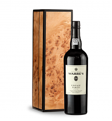 Wine Gift Boxes: Warre's Vintage Port 2003 with Handcrafted Burlwood Box