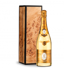 Wine Gift Boxes: Louis Roederer Cristal Brut 2012 with Handcrafted Burlwood Box