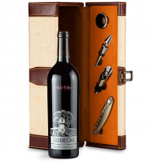 Wine Totes & Carriers: Silver Oak Napa Valley Cabernet Sauvignon 2014 Wine Steward Luxury Caddy
