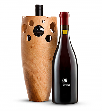 Wine Accessories & Decanters: 00 Shea Vineyard Pinot Noir 2014 with Handmade Wooden Wine Vase
