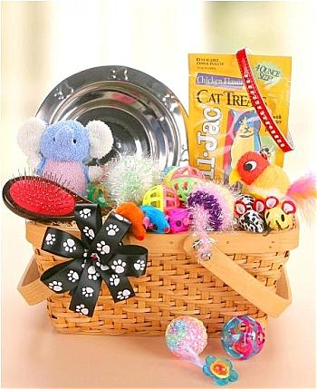 Pet Gift Baskets: Good Kitty Gift Basket