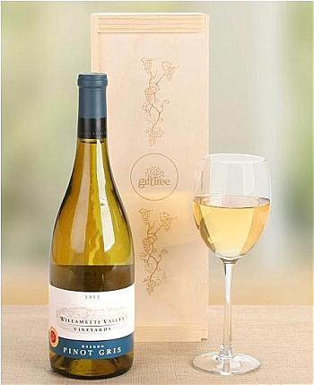 Wine Gift Crates: Willamette Valley Vineyards Pinot Gris