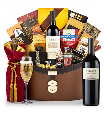 Premium Wine Baskets: Lokoya Spring Mountain Cabernet Sauvignon 2005 Windsor Luxury Gift Basket
