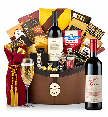 Premium Wine Baskets: Penfolds Grange 2010 Windsor Luxury Gift Basket