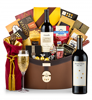 Premium Wine Baskets: Hundred Acre Few And Far Between Cabernet Sauvignon 2013 Windsor Luxury Gift Basket