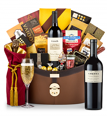 Premium Wine Baskets: Lokoya Mt. Veeder Cabernet Sauvignon 2011 Windsor Luxury Gift Basket