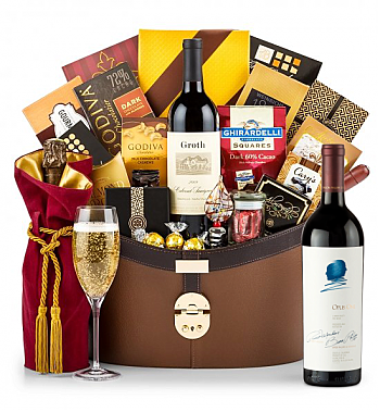 Premium Wine Baskets: Opus One 2014 Windsor Luxury Gift Basket