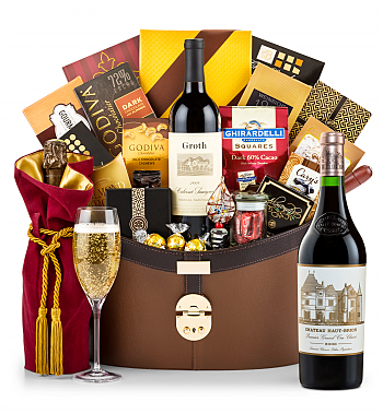 Premium Wine Baskets: Chateau Haut-Brion 2006 Windsor Luxury Gift Basket