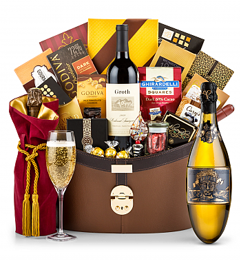 Premium Wine Baskets: Kripta Brut Nature Cava Gran Reserva 2008 Windsor Luxury Gift Basket