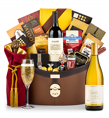 Premium Wine Baskets: Kistler Vineyard McCrea Chardonnay Sonoma Mountain 2016 Windsor Luxury Gift Basket