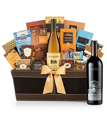 Premium Wine Baskets: Silver Oak Napa Valley Cabernet Sauvignon 2013 Cape Cod Luxury Wine Basket