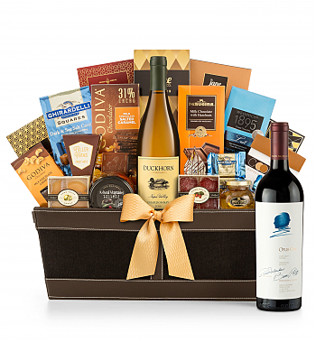Premium Wine Baskets: Opus One 2015 Cape Cod Luxury Wine Basket
