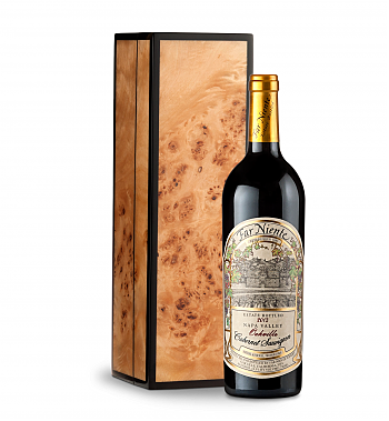Wine Gift Boxes: Far Niente Estate Bottled Cabernet Sauvignon 2013 in Handcrafted Burlwood Box