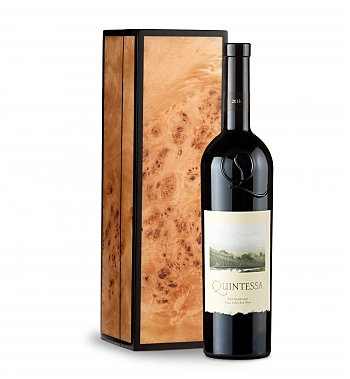 Wine Gift Boxes: Quintessa Meritage Red 2013 in Handcrafted Burlwood Box