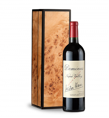 Wine Gift Boxes: Dominus Estate 2013 in Handcrafted Burlwood Box
