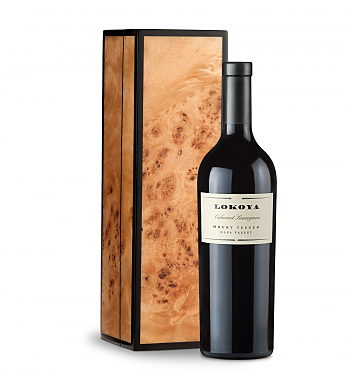 Wine Gift Boxes: Lokoya Mt. Veeder Cabernet Sauvignon 2013 in a Handcrafted Burlwood Box
