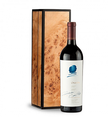 Wine Gift Boxes: Opus One 2014 in Handcrafted Burlwood Box