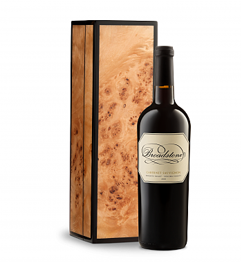 Wine Gift Boxes: Broadstone Cabernet in Handcrafted Burlwood Box