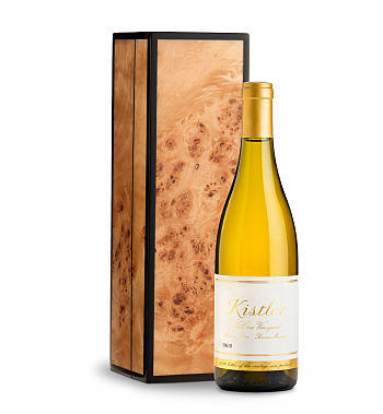 Wine Gift Boxes: Kistler Vineyard McCrea Chardonnay Sonoma Mountain 2016 in Handcrafted Burlwood Box